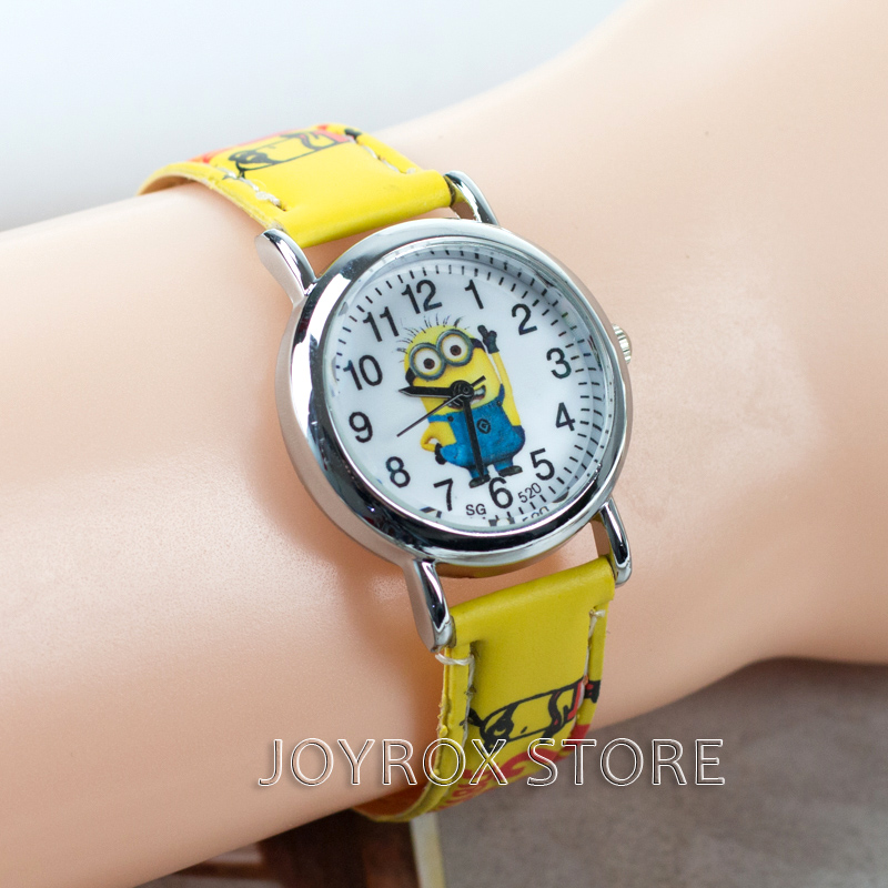 JOYROX Pola Menonton anak-anak Hot Kartun Tali Kulit 2018 Mode Anak - Jam tangan anak anak - Foto 2