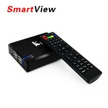 5 unids [ original ] K1-S2 Android TV Box + DVB-S2 receptor de TV por satélite Amlogic S805 Quad Core 1 GB / 8 GB Wifi soporte CCCam Newcamd Biss