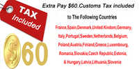 DPD XDB shipping free included customs fees for carbon bike wheelset, customs duty included