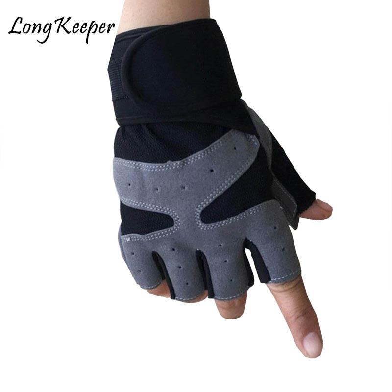 Men Women Half Fingers Sport Gloves New Outdoor Fitness Riding Gloves Anti-slip Elastic Dumbbells Weightlifting Bracers Gloves
