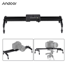 Andoer 40 cm/15.7in Portatile Obiettivo di Fondo Dolly Slider Stabilizzatore di Sistema Ferroviario Max. carico 6kg per Nikon Canon Sony DSLR Camera