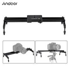 Andoer 40 cm/15.7in système de Rail stabilisateur de chariot de piste de caméra Portable charge Max. 6kg pour appareil photo reflex numérique Nikon Canon Sony