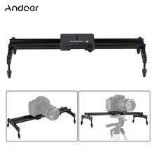 Andoer 40 cm/15.7in taşınabilir kamera parça Dolly Slider sabitleyici raylı sistem maks. yük 6kg Nikon Canon Sony için DSLR kamera