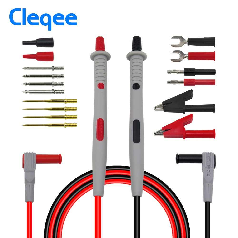 Cleqee датчики для мультиметра Сменные иглы тестовые комплекты проводов Щупы для цифрового мультиметра кабель Щупы для мультиметра провода наконечники