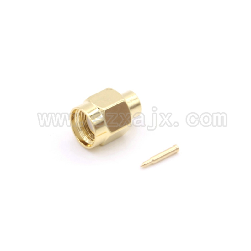 JX 10PCS RF connector SMA male soldering for RG402 0.141 Semi-rigid Coaxial Cable SMA-J-B3 fast ship rp sma female to y type 2x ip 9 ms156 male splitter combiner cable pigtail rg316 one sma point 2 ms156 connector for lte yota