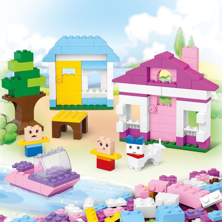 Celtniecības bloki Rotaļlieta 415gab DIY Creative Bricks Izglītojoši saderīgi ķieģeļi Saderīgs bērniem Brithday Gift