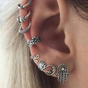 dade7ff3509971 zhenshecai Punk Silver Color Earring Sets