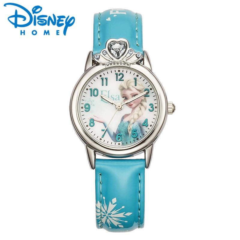 Search For Flights Frozen Childrens Watches Disney Brand Children Girls Wristwatch Quartz Leather Waterproof Child Watch Girl Cartoon Diamond Watches
