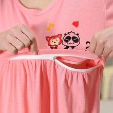 Cotton Cartoon Maternity Pajamas