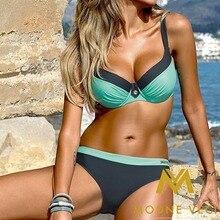 Bikini 2018 Brand New Plus Size Swimwear Women Patchwork Bathing Suit Women Swim Suit Womens Two Piece Swimsuit Monokini