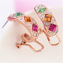 Earrings Stud Women Fashion Jewelry Designer High Quality Earrings Crystal from Swarovski 14784(China)