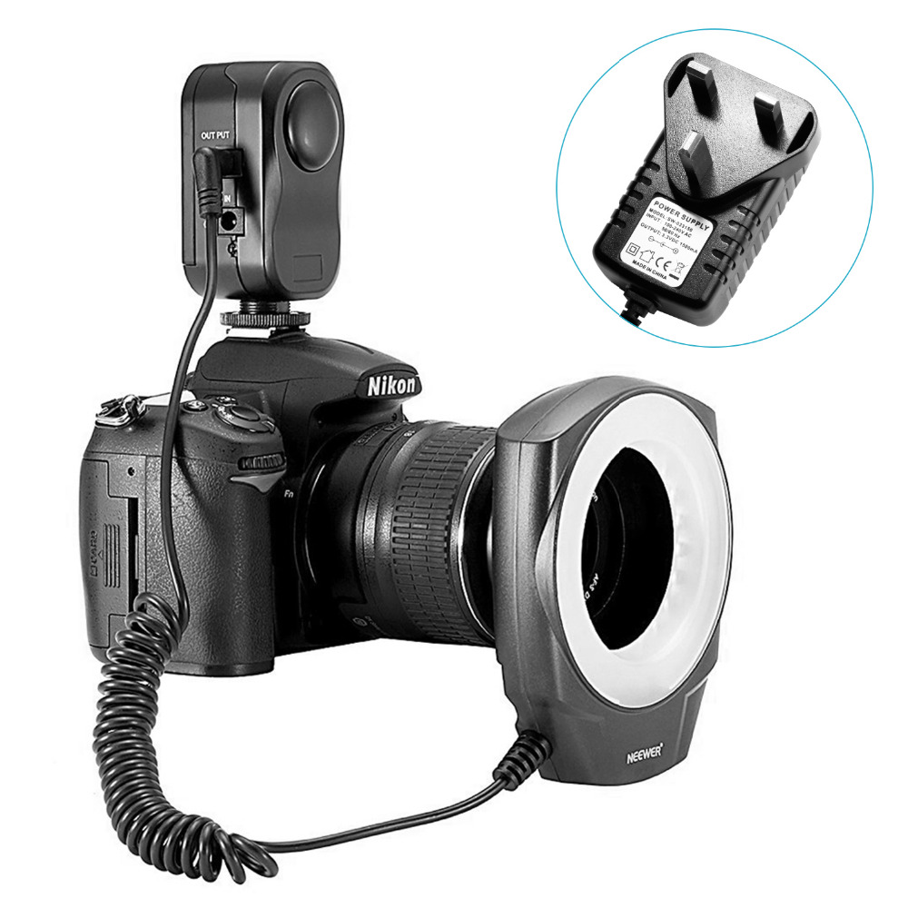 Neewer Macro Ring LED Light For Canon/Sony/Pentax/Nikon/Sigma/Olympus Lens with 6 Adapter As Godox Ring 48 купить sigma 18 200 мм для pentax