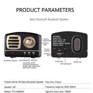 Image 5 - Iskandinav Bluetooth radyo hoparlör Retro Mini taşınabilir kablosuz Bluetooth hoparlör Radyo USB/TF Kart Müzik Çalar Subwoofer dekorasyonumuzu