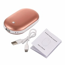 2-in-1 Pocket Heater As Hand Warmer Multifunctional Portable Electric Heater 5200mah Power Bank For Phone Computer
