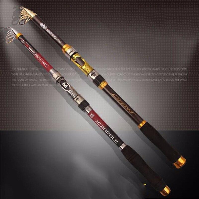 Exclusive Quality Carbon Fiber font b Telescopic b font Fishing Rod 2 1 2 4 2