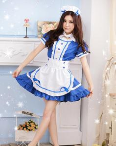 Image 2 - Disfraz de criada para mujer, traje de sirvienta de café, disfraz de dama Sissy, uniforme Sexy, Cosplay de Halloween para mujer, ropa de Festival