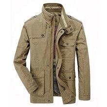 Men's good quality Spring Autumn jackets Men's cotton  Washing cotton jacket clothes M-4XL