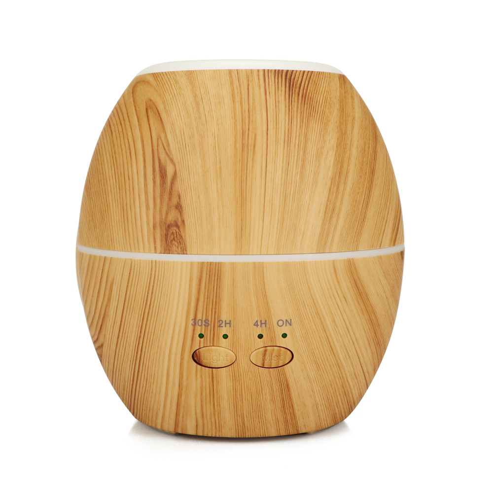 Aroma Essential Oil Diffuser Ultrasonic air humidifier 300ml Aromatherapy machine with Wood Grain 7 Color Changing LED Lights