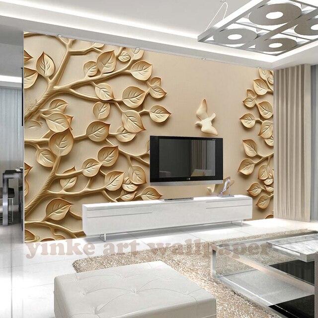 Benutzerdefinierte 3D Wallpaper Stereo reichen Baum Relief ...