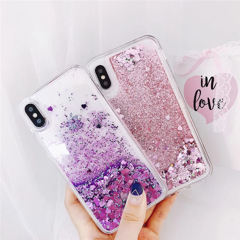 Liquid Quicksand case For iphone XS Max Bling Flowing Sequins TPU Cove