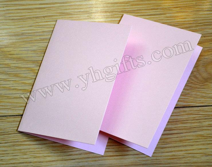 10pcslotpink folded blank cardshandmade greeting cards