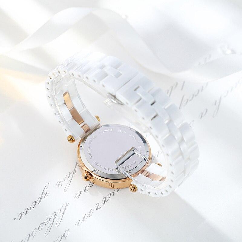 TIME100 Уникальные Керамические женские Наручные Часы Трехмерная Кран Шаблон Кварцевые Часы Керамические Ремешок Дамы ЧАСЫ - 5
