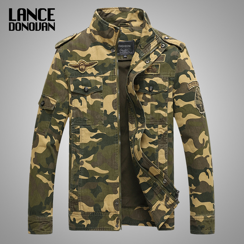 New 2019 Army Military Jacket Men Tactical Camouflage Casual Fashion Bomber Jackets Plus size M XXXL New 2019 Army Military Jacket Men Tactical Camouflage Casual Fashion Bomber Jackets Plus size M-XXXL 4XL