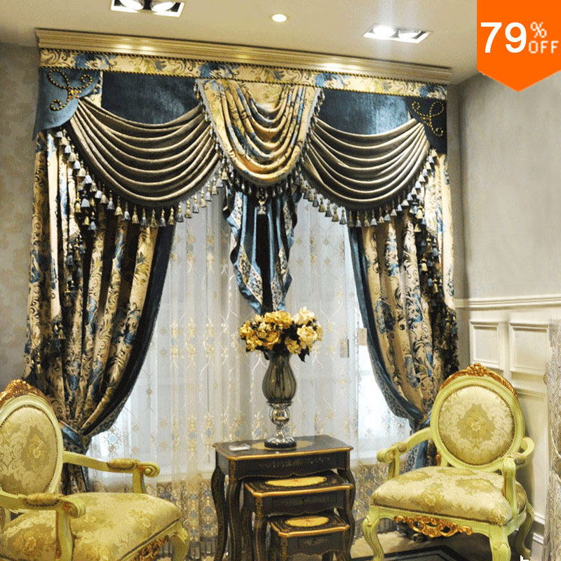 French Style Living Room Promotion-Shop for Promotional French - luxury curtains for living room