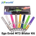 Ego vaporizer pen cigs 1100 mah Ego Evod MT3 Blister Kit dry herb vaporizer 510/ego thread mt3 clearomizer evod battery 2pcs (MM