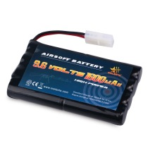 Melasta 9.6v AA 1600mAh NiMH Battery Pack with Tamiya Connector for RC Cars Boats RC Gadgets Airsoft Guns