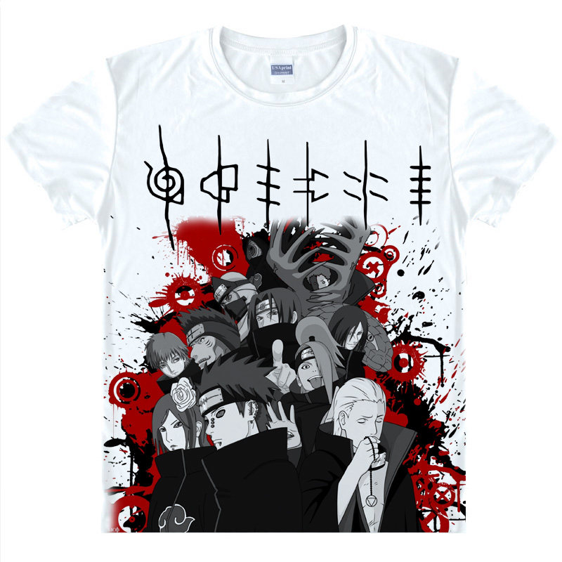 NARUTO T-Shirt Uchiha Itachi Shirt Man's summer t-shirts anime shirt Cute Girls' Dress women's fashion polo shirts anime dress a