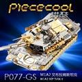 SETEMBRO M1A2 TUSK II Tanque P077-GS Piececool Metal Modelo 3D DIY corte a laser modelo Nano Enigma Jigsaw puzzle Brinquedos para adultos Presente