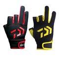 Противоскользящие рыболовные перчатки Daiwa  3 пальца  прочные дышащие перчатки для рыбалки на открытом воздухе  водонепроницаемые спортивны...