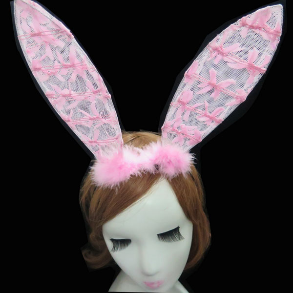 Wedding events sexy girl bunny ear headband pink red for hen bachelorette event party supplies sex products 50% off if buy 5pcs