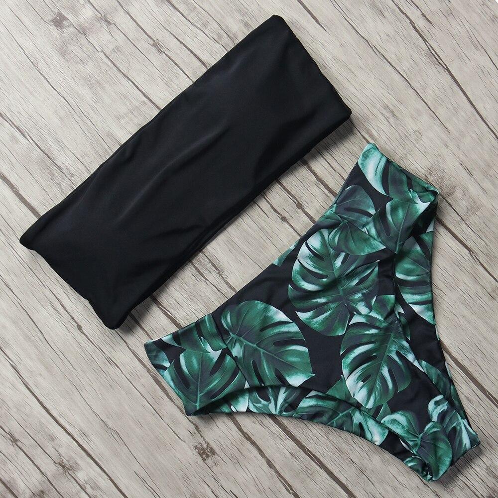 Print Swimwear Women Swimsuit High Waist Brazilian Bikini 2019 Sexy Off Shoulder Bikinis Set Beachwear Maillot De Bain Femme