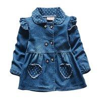 Jeans Dresses Costume Autumn Kids Baby Girls Denim Dress Fashion Clothes