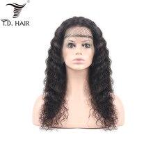 TD человеческие волосы парики с крутыми локонами с Фронтом бразильские кудрявые парики с детскими волосами предварительно сорванные натуральные волосы Remy 13x4 швейцарские парики на кружеве