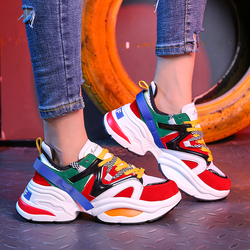 ADBOOV Web Celebrity Sneakers Women Trendy Chunky Dad Shoes Woman Buty Damskie Thick Sole Ladies Platform Shoes Chaussures Femme 4