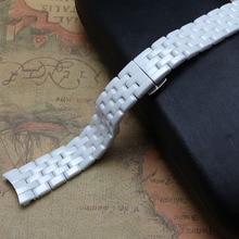 Nueva Venda de Reloj Correas de Reloj Correa De Cerámica de Alta Calidad de la Pulsera curved end 16mm Pulido de diamantes reloj 1477 ladys accesorios