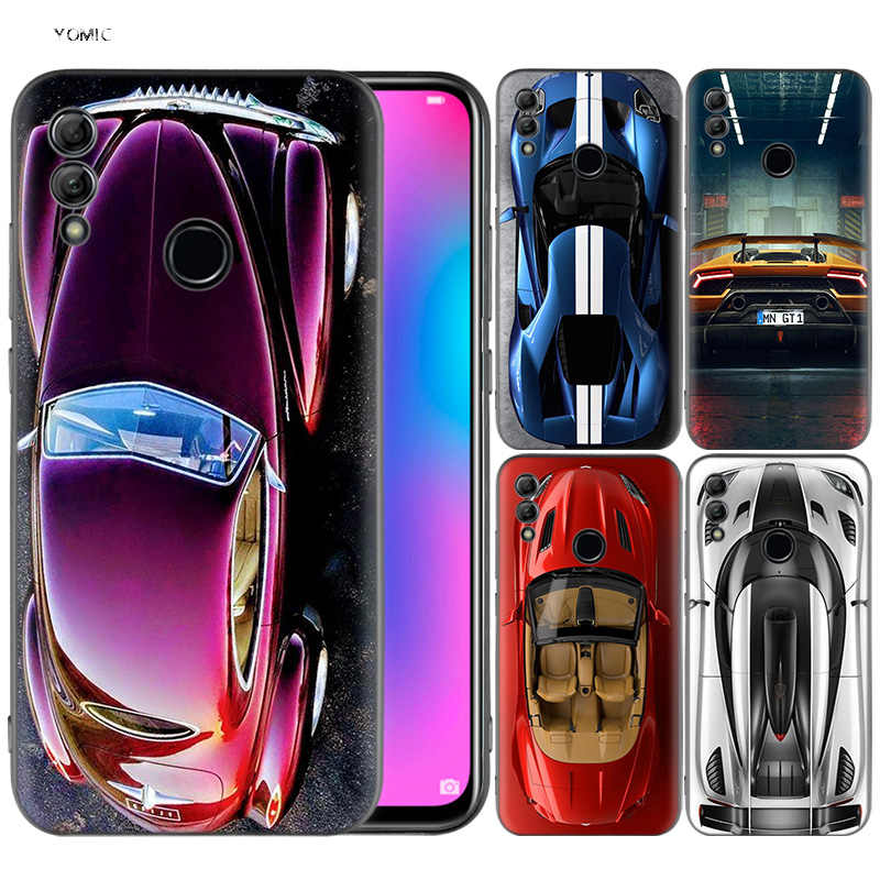 Silicone Cover Case for Huawei Honor 10 9 Lite 8X 8C 8A Y6 Y7 Y9 7A Pro Prime 7C 2018 2019 V20 Auto Car Top Photography