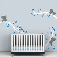 Large Size Koala Tree Branches DIY Wall Decals Wall Sticker Nursery Vinyls Baby Wall Stickers Wall