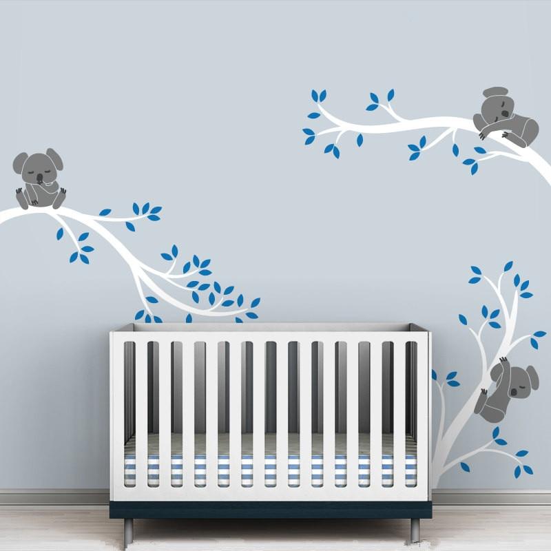 Grande Taille Koala Arbre Branches BRICOLAGE Stickers Muraux Autocollant De  Mur De Crèche Vinyles Bébé Stickers Muraux Mur Art Pour Enfants Chambres  Murale ...