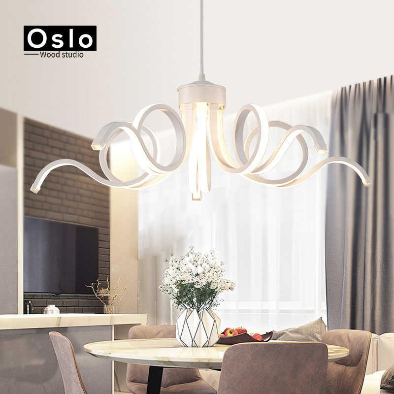 Oslo новый дизайн современные потолочные светильники для гостиной столовой D65CM акриловый алюминиевый корпус светодиодное потолочное освещение лампы светильники