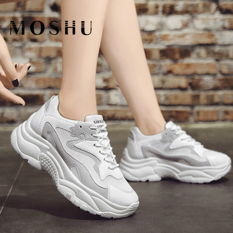 Chunky Sneakers Women Platform Shoes White Sneakers Fashion Wedges Shoes For Women Trainers Ladies Casual Shoes Tenis FemininoChunky Sneakers Women Platform Shoes White Sneakers Fashion Wedges Shoes For Women Trainers Ladies Casual Shoes Tenis Feminino