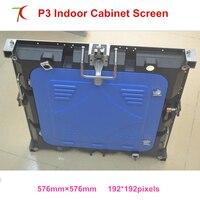 Rentable P3 indoor 576*576mm 32scan die-casting gabinete de aluminio para pantalla led hd real  1300cd