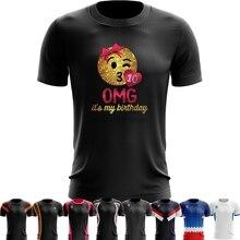 Sport Quick Dry Running Shirts Training T Shirt OMG Its My Birthday Emoji Girls 10th