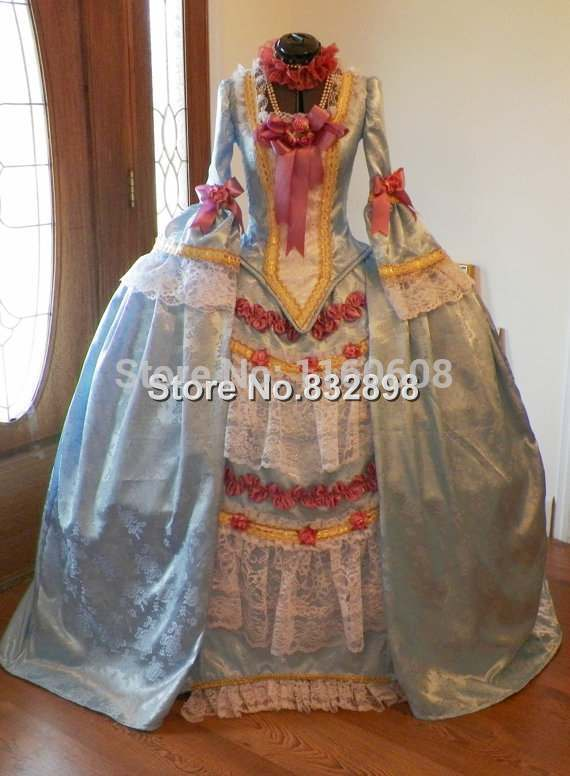 Marie Antoinette French Colonial Beethoven Waltz Venice Masquerade Versailles Ball Mardi Gras Panniers Dress Gown Costume