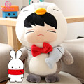 "[SGDOLL] 2017 New Arrival Korea KPOP Infinite Kim Myung Soo Penguin w Fish 14"" Plush Toy Stuffed Doll Gift Collection 16071203"