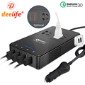 Deelife 12 v 220 v Auto Power Inverter 12 v 220 v DC zu AC Spannung Konverter mit USB QC 3,0 schnell Ladegerät Auto 230 Volt Inverter