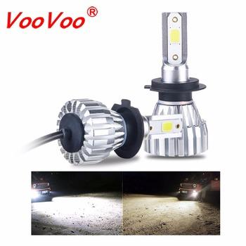 VooVoo 2 sztuk H4 reflektor led motocyklowy uniwersalny H3 H7 H8 H11 9005 HB3 9006 ATV światła motocykl 4300K 6500K 5000LM lampa czołowa tanie i dobre opinie Motocykle elektryczne CHINA
